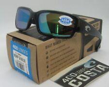 Nuevo Costa Del Mar Caballito Gafas de Sol Polarizadas Negro/Verde Espejo 400g