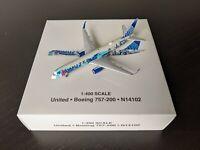 "Gemini Jets 1:400 United Airlines Boeing 757-200 ""Her Art Here"" NJ/NY New York"