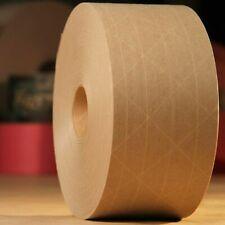 """2.75"""" x 375 ft Reinforced Kraft Gummed Paper Tape Brown 70mm Wide (#3 450) 1 2 3"""