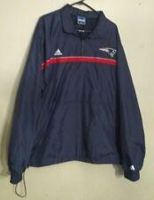 Addidas New England Patriots Pullover 1/4 Zip Windbreaker Jacket Men's Size XL