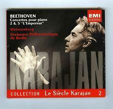 CD (NEW)VOL 2 BEETHOVEN KARAJAN WEISSENBERG PIANO CONCERTOS 2 & 5 L'EMPEREUR
