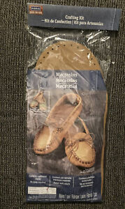 ArtMinds Moccasins  One Pair Leather Crafting Kit Unisex Size 8-9 Med