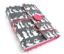 Bunny Rabbit Travel Journal Notebook, Handbound Book, Handmade Travel Gift