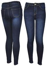 Damenjeans Damenhose High Waist Röhrenjeans Hose Jeans Röhre Blau 40 42 44 46 48