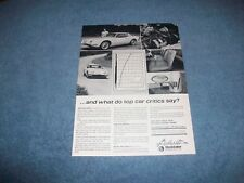 "1963 Studebaker R3 Avanti Vintage Ad ""...And What Do Top Car Critics Say?"""