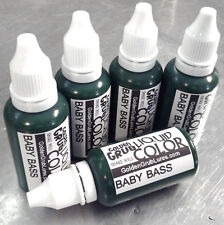 NEW 1 OZ. BABY BASS Liquid Color Fishing Plastic Soft Bait Plastisol Making