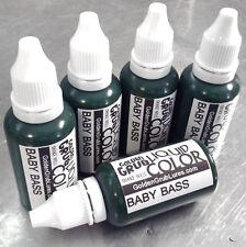 NEW 1 OZ. BABY BASS Liquid Color Fishing Plastic Soft Bait Plastisol Making