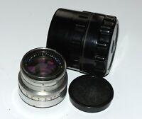 RARE Carl Zeiss Jena Biotar lens 2.0/58 mm red mount 17 blades! M40 Praktiflex