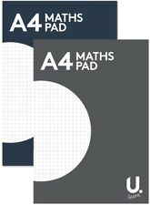 1pc A4 Maths Paper notepad maths exercise book square margin office school UK