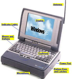 Vintage Itronix X-C 6250 PRO Ruggedized Notebook Computer XC6250 Windows 98