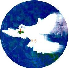 "5 1/4"" x 7 1/2""  Sheet of 12 PEACE DOVE Christmas Card Seals #33 USA MADE"