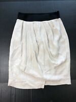 ZARA Women's Faux Wrap Skirt  A-Line Mini Skirt Cream Ivory  Size Small 1016