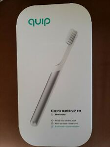 Quip Electric toothbrush Set slate or silver or gold metal,sonic vibrating brush