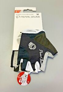 NWT Pearl Izumi Women's Cycling Gloves Elite Gel - Medium Black White 14241301
