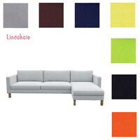 Custom Made Cover Fits IKEA Karlstad Three-seat Sofa with Chaise, Replace Cover