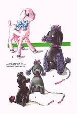 """Mama & Baby Poodle Lamb 1950s PATTERN 2099 Lamb 16"""" Mama 14"""" & Baby 8.5"""" Poodles"""