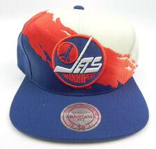 WINNIPEG JETS NHL MITCHELL & NESS PAINTBRUSH VTG SNAPBACK CAP HAT NEW! RARE!