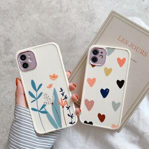 Matte Silicone TPU Case iPhone 12 Pro Max mini 11 XS XR 8 Flower Pattern Camera
