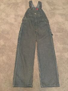 Dickie's Overalls Hickory Railroad Striped 32x30