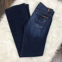 7 For All Mankind Women's Size 26 A Pocket Bootcut Jeans Medium Wash