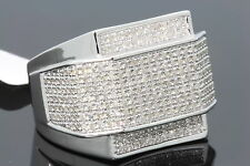 1.20 CARAT MEN WHITE GOLD FINISH DIAMOND ENGAGEMENT RING WEDDING PINKY RING BAND