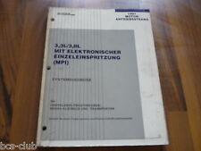 #J083 CHRYSLER ALLE 1991 MOTOR MPI 3.3 3.8 SYSTEM DIAGNOSE WERKSTATT HANDBUCH