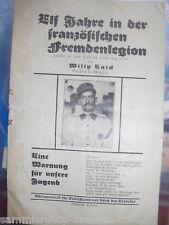 14592 Enick Elf Jahre in der Fremdenlegion Warnung für unsere Jugend 1932