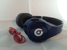 Used Original Monster Beats by Dr Dre STUDIO Earphones Headphones BLUE Genuine