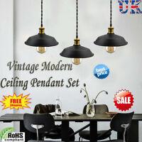 Iron Lighting Industrial Metal Ceiling Pendant Shade Vintage Hanging Retro Light