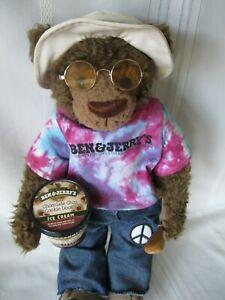 Ben & Jerry's Ice Cream Teddy Bear 1st Edition Rare 1998 w/Tags Co. Classics