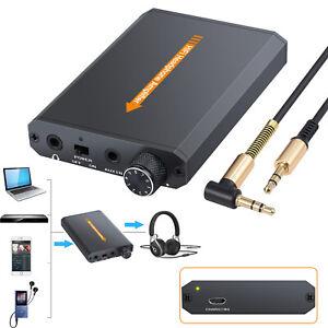 16-150Ω Audio HIFI Headphone Amplifier Compact Earphone AMP 3.5mm With USB Cable