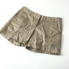 J Crew Sz 2 Chino Shorts Broken In Tan Khaki Womens
