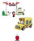 David Toy Snoopy Block Street Fair School Bus 303 PCS Peanuts