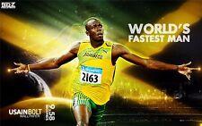 "Usain BOLT Jamaica Athletes The Fastest Man Sport 21""x13"" Poster 054"