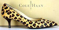 Cole Haan Leopard Hair Kitten Heel Pumps Shoes sz 7½ B