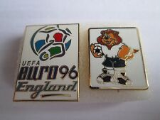 b1 lotto 2 spille ENGLAND 1996 UEFA european championship football pins lot 96