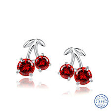 925 Sterling Silver earring CZ Cubic Zirconia crystal DLE42