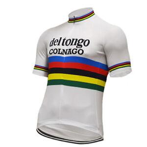 COLNAGO DEL TONGO Cycling Jersey Shirt Retro Bike Ropa Ciclismo MTB Maillot