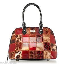 Serenade Patchwork Genuine Leather Handbag (H11-6801)