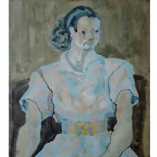 """Woman portrait"" Water color on Paper 1954 Korean Premier Artist Dong-Shin Bae"