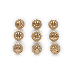 10pcs Hollow Metal Shank Buttons Clothing Shirt Sewing Decor Replace 10mm