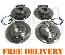 BMW 5 SERIES E39 FRONT DISCS /& PADS 520 523 525 528 WEAR SENSOR NEW SET 95-03