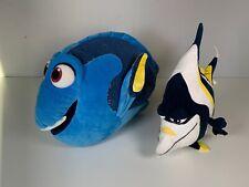 "LARGE Build A Bear Disney Finding Nemo Dory Adorable Plush 20"" Fish & Gill"