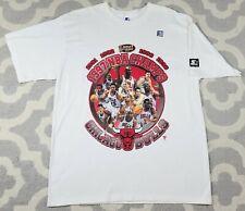 Vintage Starter Chicago Bulls 1997 Championship T-Shirt Size Large