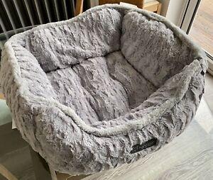Nandog Pet Gear Grey Faux Fur Dog Bed
