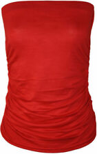 Tops de mujer de color principal rojo sin mangas