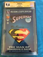 Superman #78 Collectors Edition - DC - CGC SS 9.6 NM+ - Signed by Brett Breeding