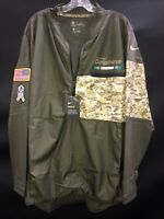 MIAMI DOLPHINS NIKE TEAM ISSUED SALUTE TO SERVICE WINDBREAKER W/TAGS SZ-XLARGE