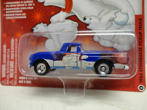 Johnny Lightning 1962 STUDEBAKER PICKUP TRUCK Blue '62 COCA COLA Polar Bear #6