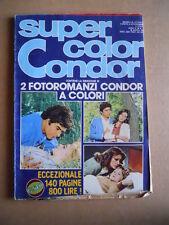 SUPER COLOR CONDOR Fotoromanzo n°1 1980 ed. Condor  [G580]